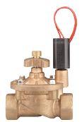"""Латунный электромагнитный клапан с внутренней резьбой 1"""" и регулятором потока. Рекомендуемый диапазон давления: от 1,5 до 15 бар"""