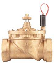 """Латунный электромагнитный клапан с внутренней резьбой 3"""" и регулятором потока. Рекомендуемый диапазон давления: от 1,5 до 15 бар"""